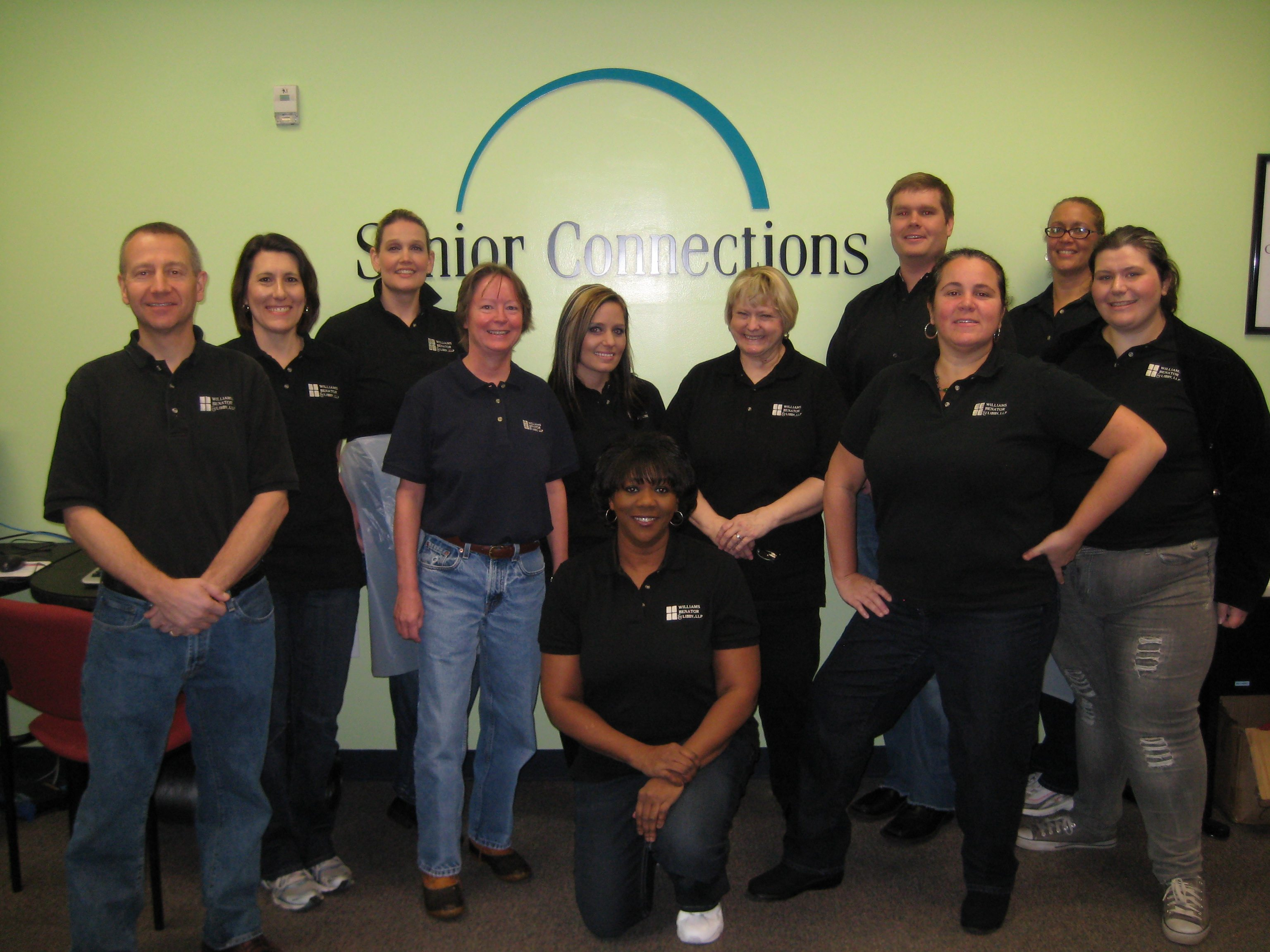The morning crew of Senior Connections volunteers in 2012.