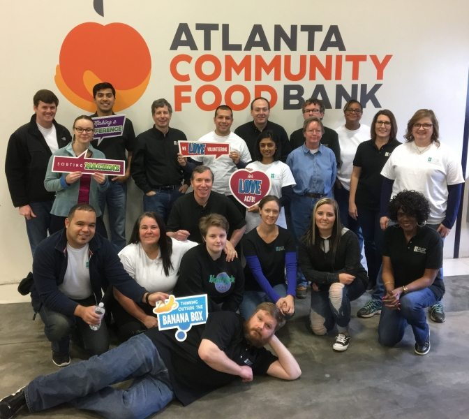 WBL volunteers had a great time sorting food donations at ACFB in 2017.